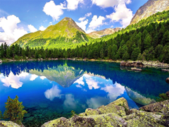 Пазлы онлайн. Картинка №1003: Хрустальное озеро . Размер картинки: 640х480