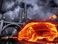 Пазлы онлайн. Картинка №234: Огненный гонщик . Размер картинки: 640х480