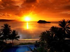 Пазлы онлайн. Картинка №26: Пляжный закат . Размер картинки: 640х480