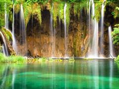 Пазлы онлайн. Картинка №317: Лесной водопад . Размер картинки: 640х480