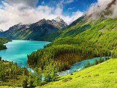 Пазлы онлайн. Картинка №321: Швейцарская долина . Размер картинки: 640х480