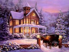 Пазлы онлайн. Картинка №39: Зимняя сказка . Размер картинки: 640х480