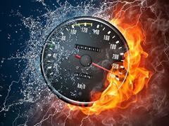 Пазлы онлайн. Картинка №435: Огненная скорость . Размер картинки: 640х480
