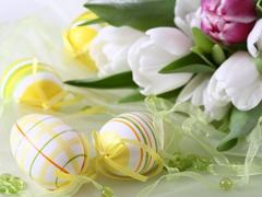Пазлы онлайн. Картинка №568: Яйца и цветы . Размер картинки: 640х480
