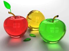 Пазлы онлайн. Картинка №79: Яблочный светофор . Размер картинки: 640х480