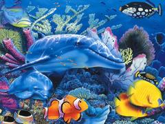 Пазлы онлайн. Картинка №881: Морское царство . Размер картинки: 640х480