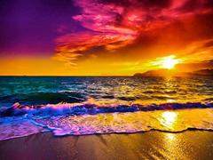 Пазлы онлайн. Картинка №908: Красный закат . Размер картинки: 640х480