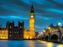 Пазлы онлайн. Картинка №941: Огни ночного Лондона . Размер картинки: 640х480