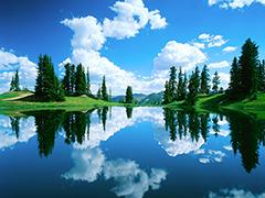 Пазлы онлайн. Картинка №944: Зеркало природы . Размер картинки: 640х480