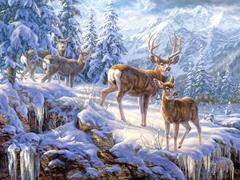 Пазлы онлайн. Картинка №975: Зимняя история . Размер картинки: 640х480
