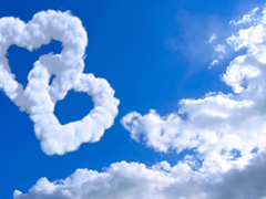 Пазлы онлайн. Картинка №275: Облачные валентинки . Размер картинки: 640х480