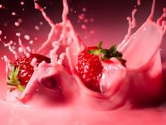 Пазлы онлайн. Картинка №698: Клубничный йогурт . Размер картинки: 640х480