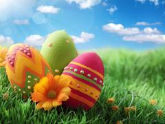 Пазлы онлайн. Картинка №723: Пасхальные яйца . Размер картинки: 640х480