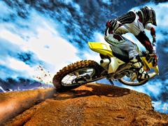 Пазлы онлайн. Картинка №813: Горный мотоцикл . Размер картинки: 640х480