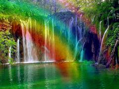 Пазлы онлайн. Картинка №887: Радужный водопад . Размер картинки: 640х480